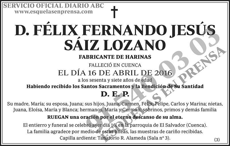 Félix Fernando Jesús Sáiz Lozano